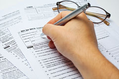 Tax form Royalty Free Stock Photo