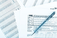 Tax form 1040  for US individual tax return Royalty Free Stock Images