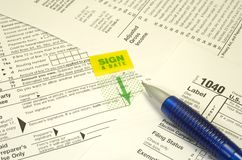 Tax Forms. Photo of Tax Forms and a Pen - Tax Related Items stock images