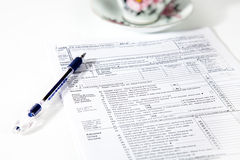 Tax Forms Royalty Free Stock Photos