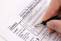Tax forms. 2006 tax forms stock photos