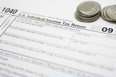Tax forms as finance concept Stock Photo