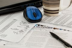 Tax, Forms, Income, Business Stock Photography