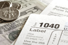 Tax Forms 1040 for IRS royalty free stock images