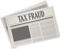 Tax fraud newspaper illustration design Stock Photo