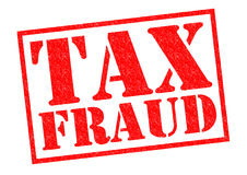 TAX FRAUD. Red Rubber Stamp over a white background Royalty Free Stock Photo