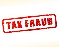 Tax fraud text buffered. Illustration of tax fraud text buffered on white background Stock Images