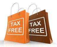 Tax Free Bag Represents Duty Exempt Discounts Royalty Free Stock Photo