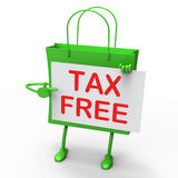 Tax Free Bag Represents Duty Exempt Discounts Royalty Free Stock Photos