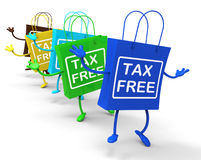 Tax Free Bags Represent Duty Exempt Discounts Stock Photos