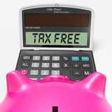 Tax Free Calculator Shows Untaxed Duty Free Royalty Free Stock Photo