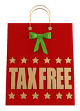 Tax free  christmas shopping bag Royalty Free Stock Image