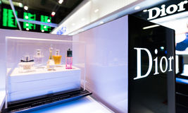 Tax free Dior boutique, Bangkok Stock Photos