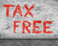 Tax free and foreground Royalty Free Stock Photo