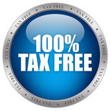 Tax free icon. Isolated on white background Stock Photography