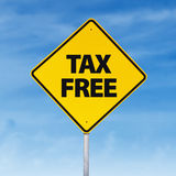 Tax free road sign Royalty Free Stock Photos