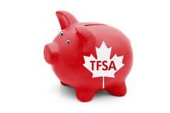 Tax Free Savings Account in Canada Stock Image