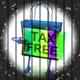 Tax Free Shopping Bag Represents Duty Exempt Discounts Stock Photo