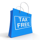 Tax Free Shopping Bag Shows No Duty Taxation Stock Image