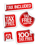 Tax free shopping stickers. Stock Photos