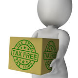 Tax Free Stamp On Box Showing No Duty Royalty Free Stock Images