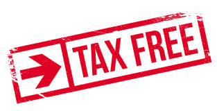 Tax free stamp Royalty Free Stock Images