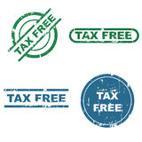 Tax free stamps. Set of four tax free grunge stamps isolated on white background.EPS file available stock illustration
