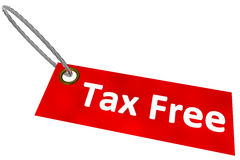 Tax Free Tag Stock Image