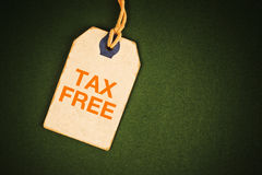Tax free tag Stock Photography