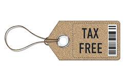 Tax Free - tag label Stock Photo