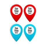 Tax free vector illustration over white 12 vector illustration