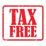 Tax free vector illustration over white 14 vector illustration