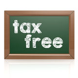 Tax Free words on a chalkboard Stock Photography