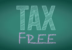 Tax free written on a chalkboard Royalty Free Stock Photo