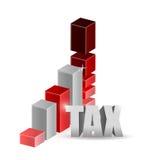Tax graph illustration design Stock Image