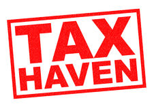 TAX HAVEN. Red Rubber Stamp over a white background Royalty Free Stock Photo