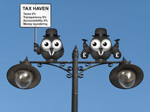 Tax Haven Sign Stock Photo