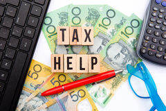 Tax Help - Australia Stock Photos