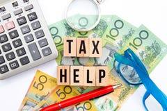 Tax Help - Australia Royalty Free Stock Photos