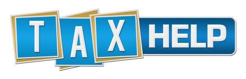 Tax Help Blue Square Stripe Horizontal Royalty Free Stock Photos