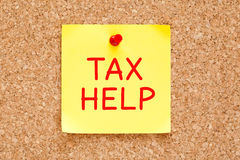 Tax Help Sticky Note Royalty Free Stock Photos