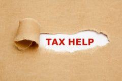Tax help torn paper concept Stock Photos