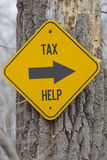 Tax Help this Way Stock Images