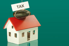 Tax home Stock Photo