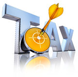 TAX icon Royalty Free Stock Image