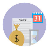 Tax icon flat Stock Photos