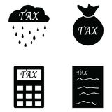 Tax icon set. The tax of icon set Stock Photos