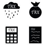 Tax icon set Stock Photos