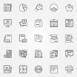 Tax icon set Royalty Free Stock Photos