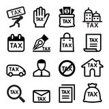 Tax icon set Royalty Free Stock Images